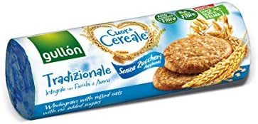 Gullon Heart of Cereal, Whole Grains Cookies with Rolled Oats, Sugar Free, Breakfast Traditional Biscuits 280GR