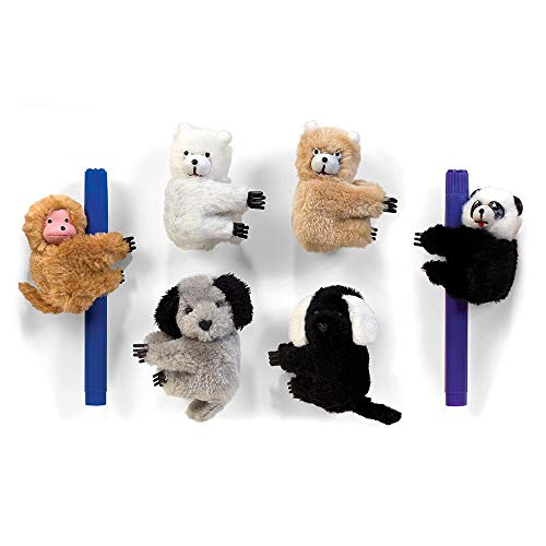 ToyPlaya (6X Pcs Jumbo Clip-On Critter Animal Clip; Novelty Toys, Favors and Games