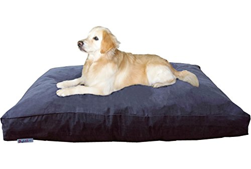 Dogbed4less Jumbo Orthopedic Extreme Comfort Memory Foam Dog Beds for Large Dog, Waterproof Lining and Machine Washable Cover, 55X47 Pillow, Espresso
