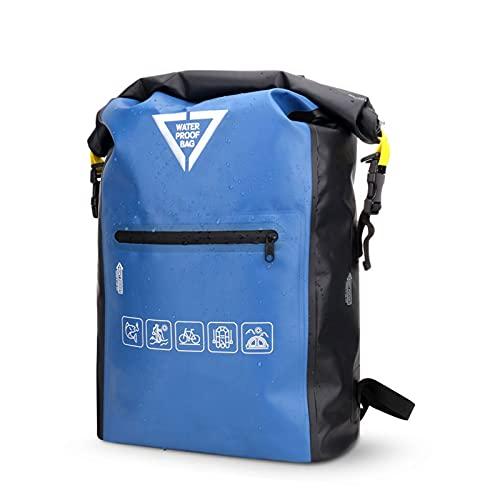 Kabxhueo Bolsa Estanca Impermeable 25L Mochila Estanca con Correa de Hombro Ajustable para Playa y Deportes al Aire Kayak Senderismo Esquí Pesca Escalada Camping,Azul,25L