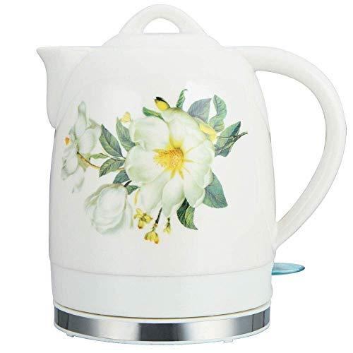 Bouilloires bouilloire électrique en céramique, sans fil 1.6 Litres Tea Pot, Shut-Off-Dry Protection Boil automatique, 1350W rapide (Couleur: D) 8bayfa (Color : D)