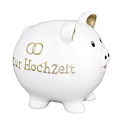 Goldbach Spardose Dolomit 'Zur Hochzeit', weiß, 14 x 13 x 14 cm, Sonstige, weiß, Einheitsgröße