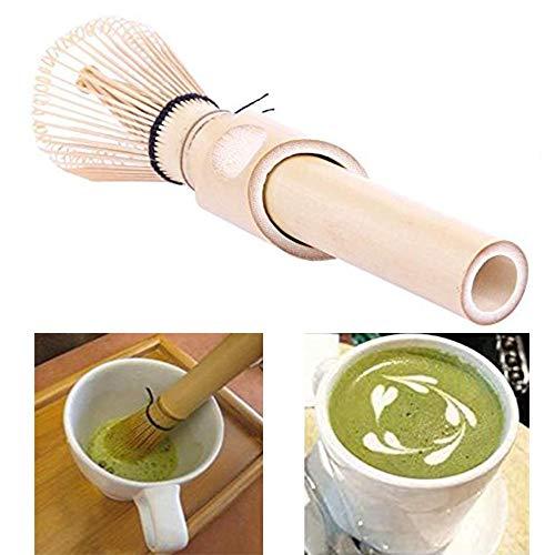 Gutsbox Matcha Besen Matcha Schneebesen aus Bambus Japanischer Matcha-Besen Matcha Pulver Quirl Werkzeug Teezeremonie Zubehör 80 Borsten