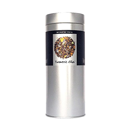 The Exotic Teapot - Turmeric Spice Chai Tea, 200g Tin, Loose Leaf Black Tea