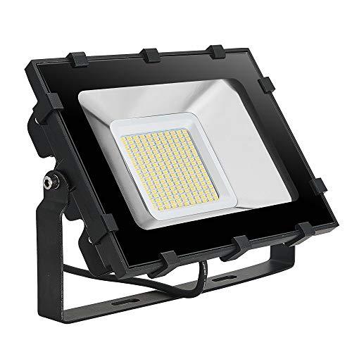 Viugreum- Faro LED V Generazione Bianco Caldo Bianco Freddo Impermeabile 10 20 30 50 100 150 200 300 Watt Faretto Impermeabile da Esterno