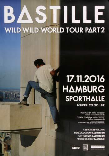 Bastille - Wild World, Hamburg 2016 » Konzertplakat/Premium Poster | Live Konzert Veranstaltung | DIN A1 «