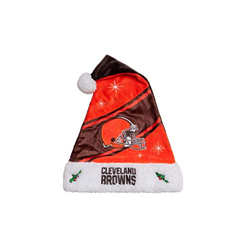 FOCO NFL Cleveland Browns High End Holiday Santa Hat CapHigh End Holiday Santa Hat Cap, Team Color, One Size