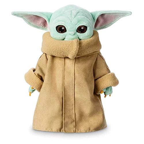 VUBD Baby Yoda Plüschfigur Spielzeug, Star Wars Soft Toys, Mandalorianische Puppe Spielzeug Gefüllte Puppe Yoda, Geburtstagsgeschenke Für Kinder 30cm/Blau