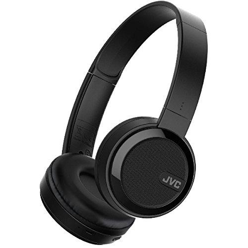 JVC HA-S40BT-B-E Bluetooth On-Ear-Kopfhörer mit kompakter, faltbarer Bauweise, und Neodym-Magnet schwarz