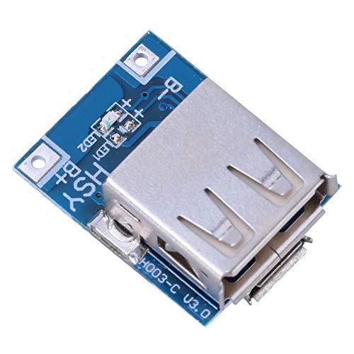 Niiyen Módulo de Fuente de alimentación Step Up, 10Pcs 5V 1A Módulo de Fuente de alimentación Step Up multifunción Boost, Placa de protección de Carga USB de batería de Litio, Cargador de Bricolaje