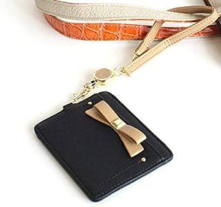 ブラック Paquet du Cadeau ガーリー リボン リール付き パスケース zu-d015 キャロットカンパニー レガートラルゴ
