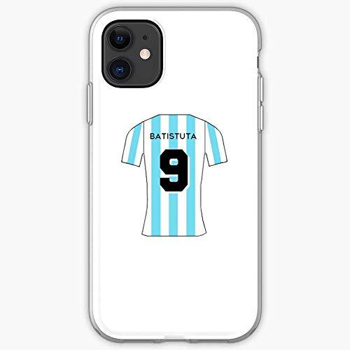 TIINTEXBA Compatible with iPhone 12/12 Pro MAX 12 Mini 11 Pro MAX SE X XS MAX XR 8 7 6 6s Plus Case Batistuta Soccer Cup 1998 Eusebio Gabriel Ronaldo World Scorer Argentina Phone Cases Cover
