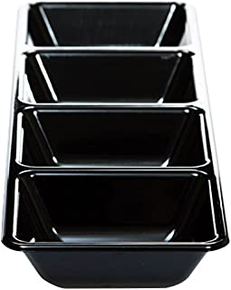 Creative Converting 059960 59960 Form & Function Rectangular 4 Compartment Plastic Tray, 16