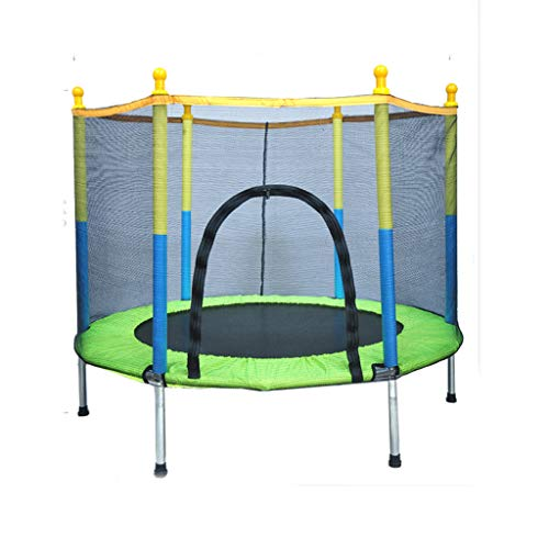 Outdoor Children's Trampoline, Trampoline With Safety Cushion Shell, Quiet And Firm Elastic Trampoline, Home Fitness Garden Mini Trampoline(Color:green)