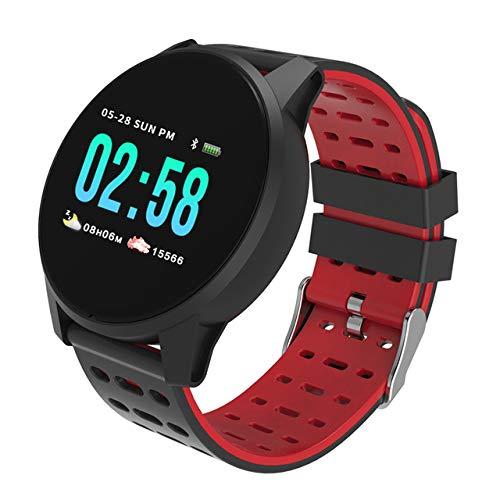 Sport en vrije tijd elektronische armband, ronde slimme horloge mannen hartslag monitor sport stappenteller armband waterdichte smartwatch