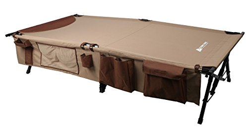 Ozark Trail XXL Weather-Resistant Deluxe Cot with Side Organizer
