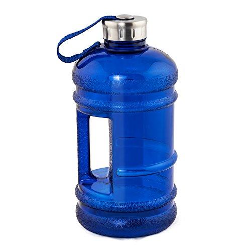 MELIANDA XXL Sport Trinkflasche MA-7400 - 2,2 Liter - MAXI Wasserflasche - Gym-Bottle - BPA & DEHP Frei, Blau