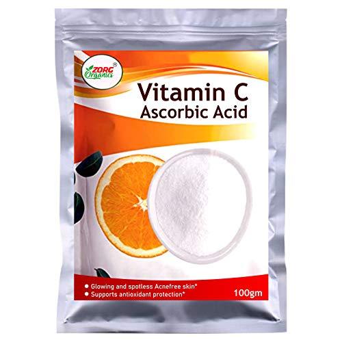 Zorg Organics L-Ascorbic Acid Powder Vitamin C For Use in Serums and Cosmetic Formulations