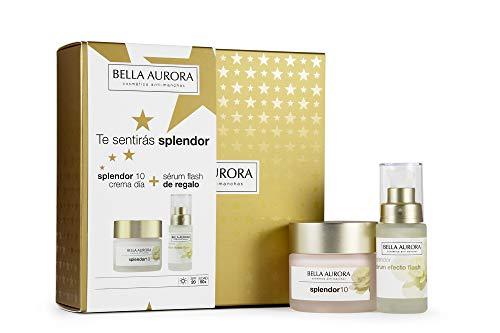 Bella Aurora - Pack Splendor Dia 50ml + Splendor Serum Efecto Flash 30ml | Caja de Regalo | Anti-edad | Tratamiento Anti-Arrugas