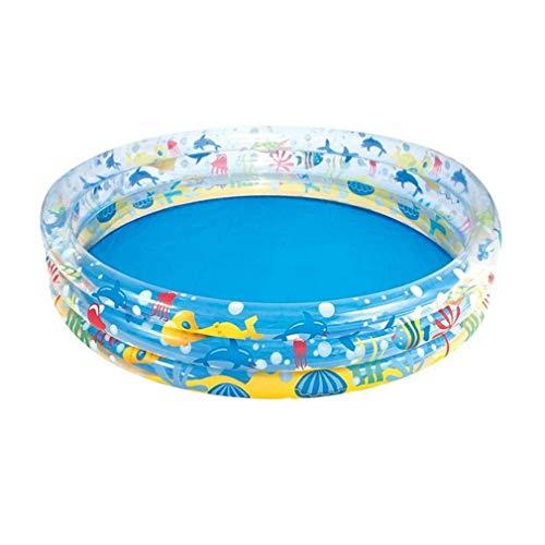 HIGHKAS Aufblasbarer Familienpool, Babyspielzeug-Planschbecken Runder, Dicker Pool für den Garten im Innen- und Außenbereich