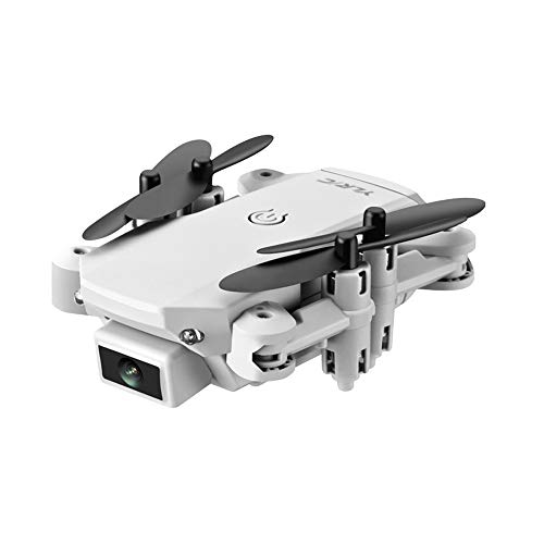Slreeo Foldable Drone with Dual Cameras, 4K High-Definition Aerial Photography Quadcopter, Long-Life 2.4GHz Aircraft, One-Key Lift/Return, Real-time Image Transmission (Color : White)