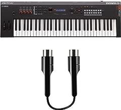 Yamaha MX61 Music Production Synthesizer, Black with MIDI Adapter