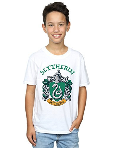 Harry Potter Jungen Slytherin Crest T-Shirt Weiß 9-11 Years