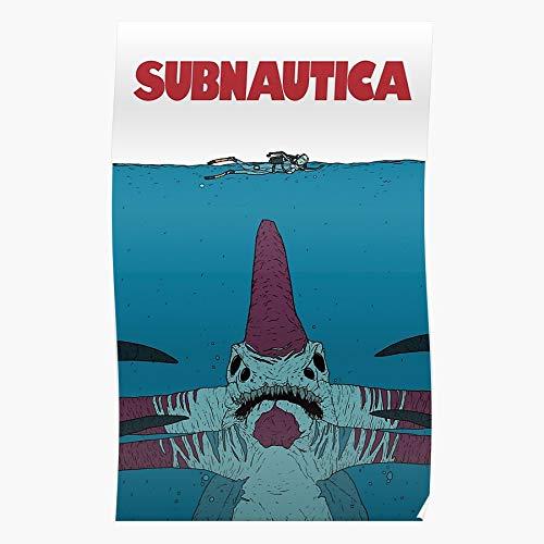 boscovs Videogame Pc Subnautica Reaper Jaws Original Swim Indie Das eindrucksvollste und stilvollste Poster für Innendekoration, das derzeit erhältlich ist