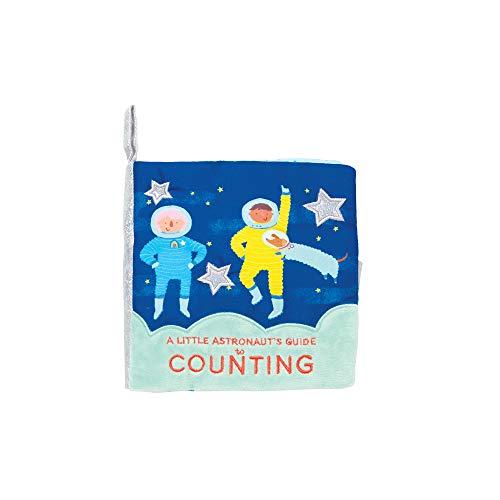 Manhattan Toy- Space sur Le thème du Livre comptage de bébé Doux avec Papier froissé Souple, 218420, Multi