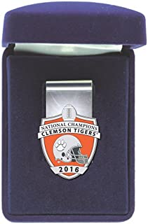 Heritage Pewter Clemson Tigers 2016 National Championship Money Clip