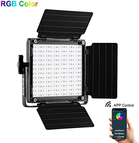 GVM RGB LED Video Light, 800D Photography Lighting with APP Control, Video Light for YouTube Outdoor Studio, Led Panel Video Light