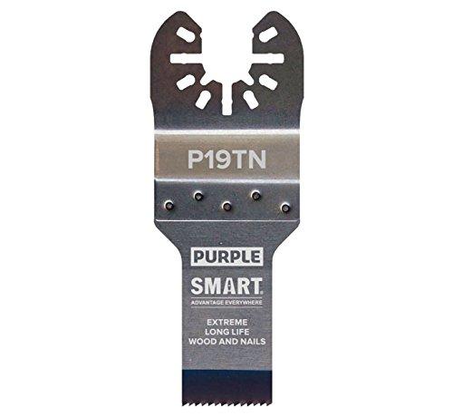 Smart P19TN1 Purple Series - Hoja bimetálica de aleación de titanio (19 mm)