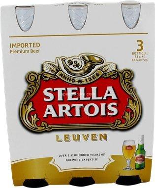 Birra stella artois cl 33 cartone da 3 pz