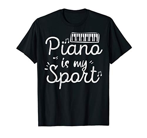 Funny Piano Player Sports Design, Unique Pianist Gift T-Shirt