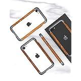 iPhone SE 第二世代 ケース アイフォン7 iphone8 対応 Uovon 天然木 アルミバンパー ダブル構造 木製フレー カメラ保護 超軽量 衝撃防止 保護カバー スマホケース