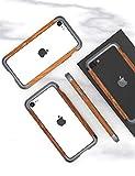 iPhone SE 第二世代 ケース アイフォン7 iphone8 対応 Uovon 天然木 アルミバンパー ダブル構……