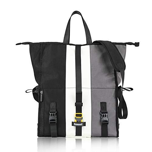 Volkcam Sport Messenger Bag Bike Rear Rack Pannier Bag, 21L Shoulder Bag Handbag Multipurpose Messenger Foldable Bag for Riding Cycling Working Travel Business Trip Sports Fitness - Black