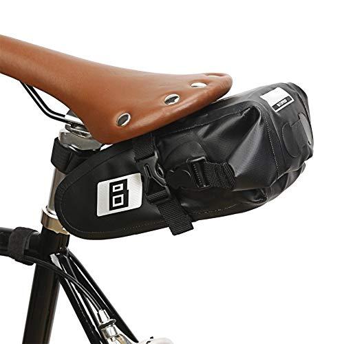 Dauerhaft wasserdichte wasserdichte Fahrradsatteltasche regendicht Mountainbike Rückentasche Fahrradweg Rücksitz Schwanz Tasche Zubehör Mode (Color : Black)