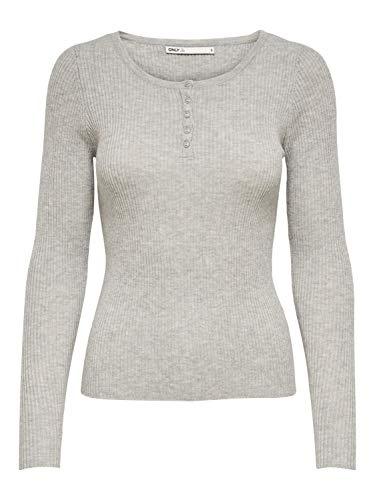 ONLY Damen ONLJILL Life L/S KNT Pullover, Light Grey Melange, L