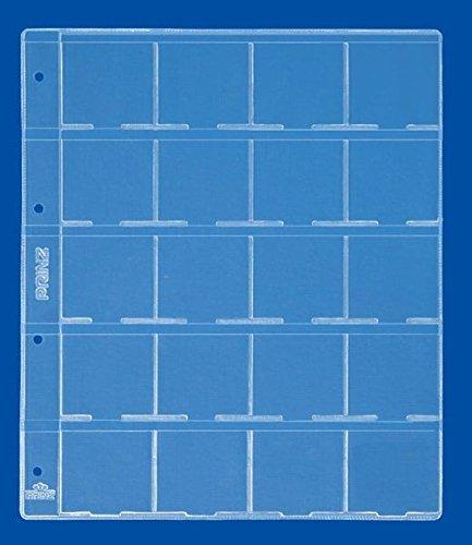 PRINZ 2091 Plastikblatt für 20 Münzklappen/per 5 St.