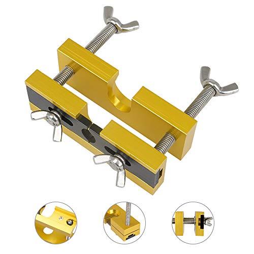 None Brand Mundstück-Abzieher, langlebiger Mundstück-Entferner mit Trompeten-Mundstück-Abzieher aus Aluminiumlegierung für Messing-Blasinstrumente Trompete Posaune Euphonium Horn, Golden