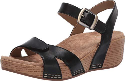 Dansko Women's Laurie Black Wedge Sandal 9.5-10 M US