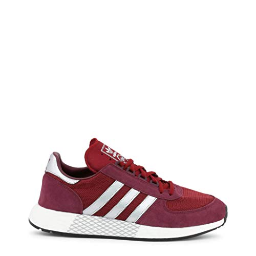 Mens Adidas Originals Marathon x5923 Trainers in Burgundy