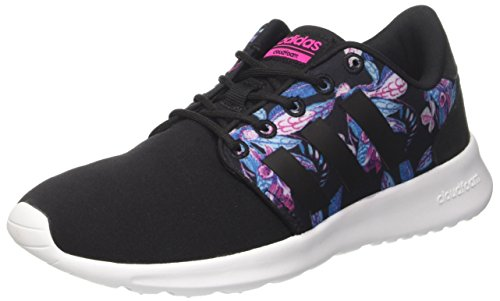 adidas Damen Cloudfoam Qt Racer W Sneaker Low Hals, Schwarz (Negbas/Negbas/Rosimp), 39 1/3 EU