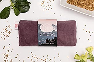 emiana Yoga Eye Pillow, Scented Lavender Eye Pillow with Removable Strap, Velvet Satin Silk Eye Pillow for Relaxation, Sleep, Headache/Stress Relief, Light-Blocking Weighted Eye Pillow for Meditation