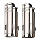 GvvcH Triple Jet Flame Zigarren Feuerzeuge mit Zigarrenpunsch 2er Pack Multifunktionales Metall...
