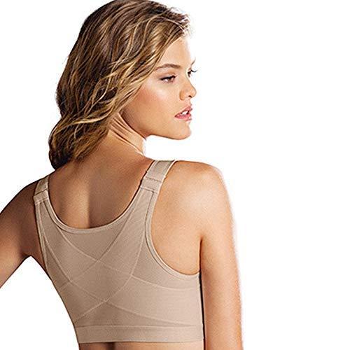 gfhjgjhj Womens Posture Corrector Wireless Back Support BraWomen Posture Corrector Bra Wireless Back Support Lift Up Yoga Bra Underwear M Nude