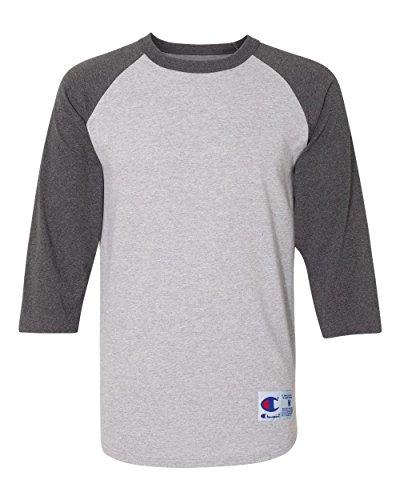 Champion Raglan Baseball T-Shirt M Grey