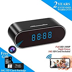 WEMLB HD 1080P WiFi Hidden Camera Alarm Clock