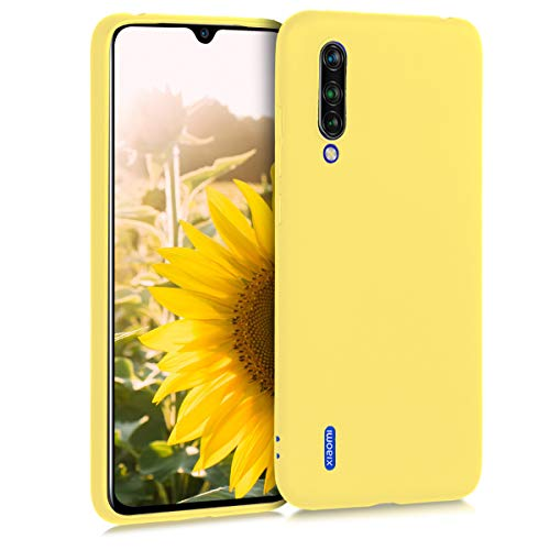kwmobile Funda Compatible con Xiaomi Mi 9 Lite - Carcasa de TPU Silicona - Protector Trasero en Amarillo Mate